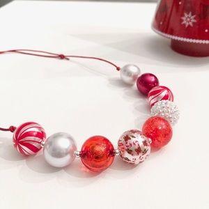 Candy Cane Lane Adjustable Bead Necklace